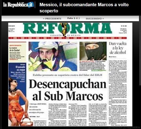 Il subcomandante Marcos può togliersi il passamontagna è un uomo