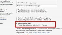 Con Gmail si può annullare l'invio in una mossa. Ecco come