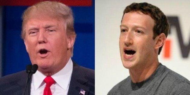 Mark Zuckerberg contro Donald Trump: