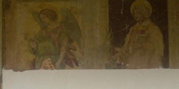 Gli affreschi del '600 coperti con l'intonaco nella chiesa dei Cappuccini al