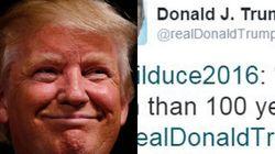 Donald Trump cita Benito Mussolini su Twitter: