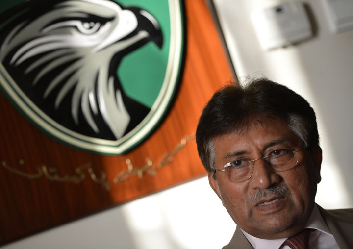 Pakistan's former military ruler Pervez Musharraf speaks during an interview with AFP at his residence in the Gulf emirate of
