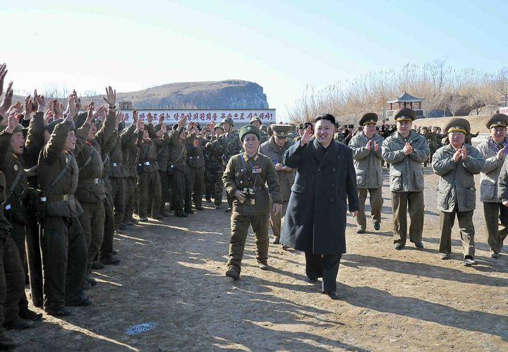 ---EDITORS NOTE--- RESTRICTED TO EDITORIAL USE - MANDATORY CREDIT 'AFP PHOTO / KCNA VIA KNS' - NO MARKETING NO ADVERTISING CA