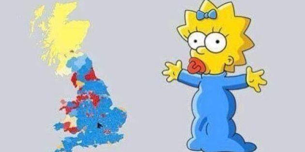 La mappa elettorale della Gran Bretagna assomiglia a Maggie