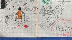 Il disegno di un bambino siriano che ha lasciato senza parole la polizia