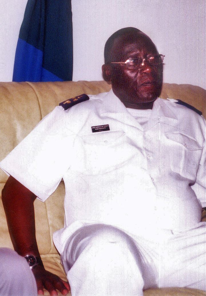(FILES) This file picture dated July 12, 2008 of Guinea Bissau rear admiral Jose Americo Bubo Na Tchuto in Gambia. On May 13,