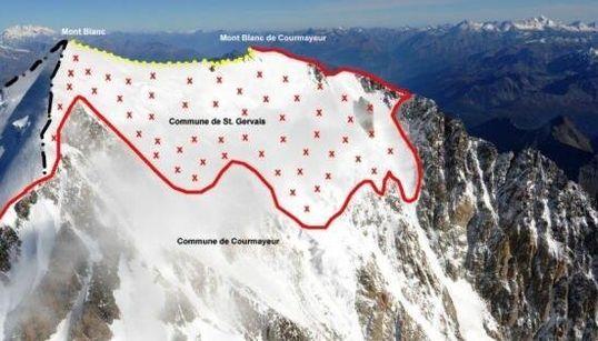 Di chi è la vetta del Monte Bianco?