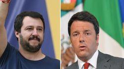 Scende la fiducia in Renzi, Salvini lo aggancia: entrambi al