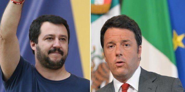 Sondaggio, Matteo Salvini aggancia Renzi nella fiducia tra gli italiani al 36%. Calo generalizzato, resiste...