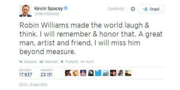 Robin Williams morto, su Twitter l'ultimo saluto delle altre star. Barack Obama: