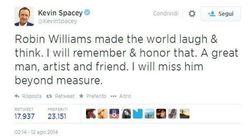 Da Kevin Spacey a Rihanna: su Twitter il saluto delle altre star a Robin