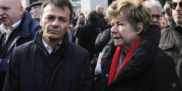 Roma, manifestazione pro-Tsipras. La sinistra-sinistra sfila a Roma sotto la bandiera del leader
