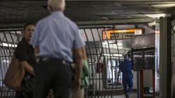 Cede soffitto alla metro Spagna, Esposito
