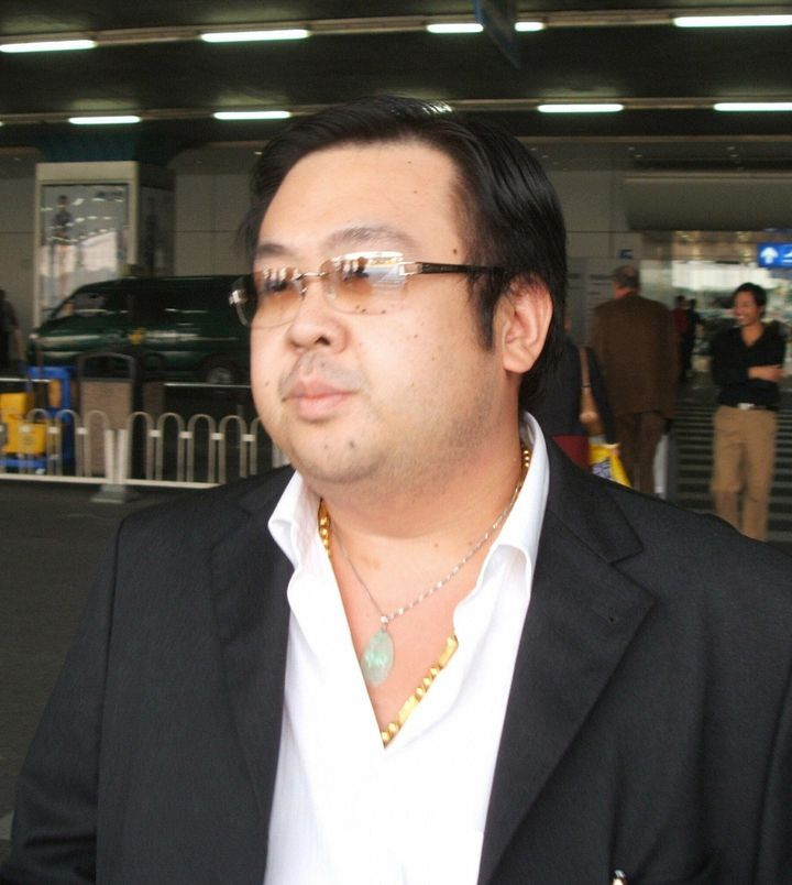 BEIJING, CHINA:  A man believed to be the eldest son of North Korean leader Kim Jong-Il, Kim Jong-Nam, answers Japanese repor