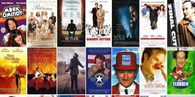 Robin Williams, le locandine dei film: da L'Attimo Fuggente a Mork e Mindy, da Patch Adams a Mrs Doubtfire...
