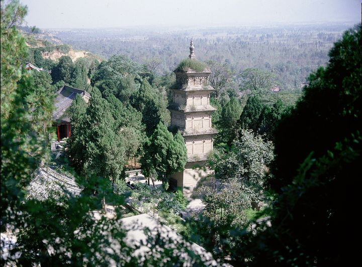 Xingjiao Temple was founded in AD 669 by the Tang Emperor Gao Zong, It was destroyed and rebuilt several times. China. Xian,