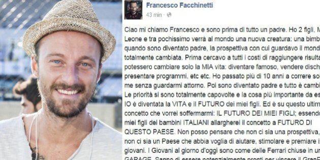 Francesco Facchinetti lancia su Facebook un nuovo movimento (a)politico:
