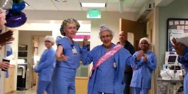 Florence Rigney, 90 anni, è infermiera da 70. I colleghi: