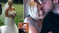 L'abito da sposa è incastrato: il marito la picchia la prima