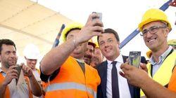 Renzi l'ottimista visita i cantieri Expo (FOTO,