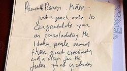 Bono scrive a Renzi: