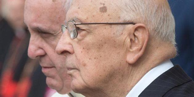 Giorgio Napolitano da Papa Francesco, l'incontro alla vigilia del discorso storico del pontefice a