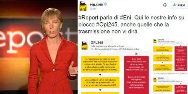 Inchiesta di Report sull'Eni: l'azienda replica in tempo reale su twitter con infografiche e dati: