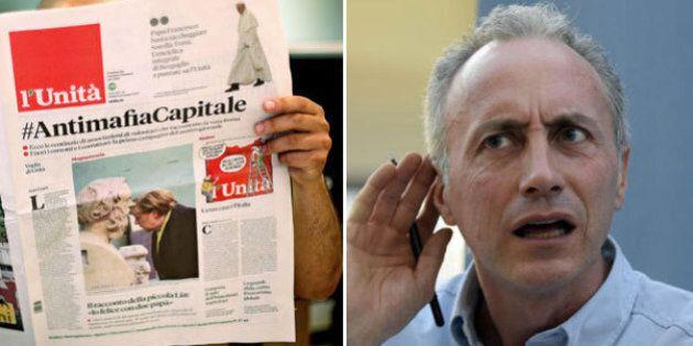 Marco Travaglio vs l'Unità. Il direttore del Fatto: