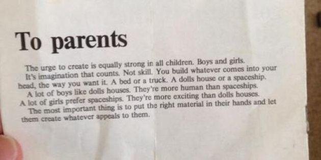 Quando la Lego negli anni '70 scriveva: