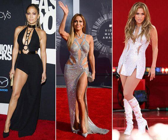 Jennifer Lopez fa l'esfoliazione delle gambe con i diamanti