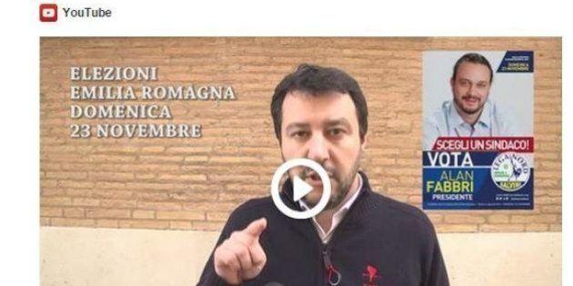 Matteo Salvini fa campagna elettorale su Twitter per il candidato della Lega in Emilia-Romagna Alan Fabbri...