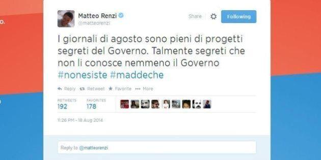 Matteo Renzi tweet: