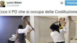 Il senatore di Forza Italia Malan pargona il Pd
