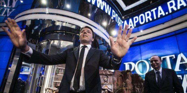 Matteo Renzi a Porta Porta batte in ascolti