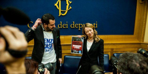 Salvini e Meloni: i due leader del populismo di destra all'assalto di Renzi. Ma in Lega e Fdi il matrimonio...