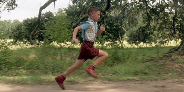 Forrest Gump bambino, troppo povero per comprare i biglietti per l'Oscar. Ha scelto l'uniforme, come...