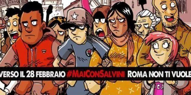 Mai con Salvini. A Roma nasce un cartello che il 28 febbraio va in piazza contro la manifestazione della