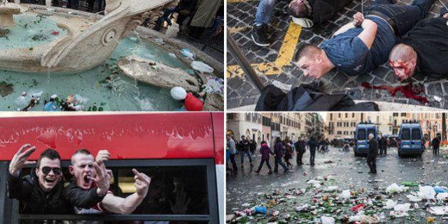 Roma Feyenoord: gli ultrà olandesi devastano anche il Campidoglio. Marino furioso con prefetto e