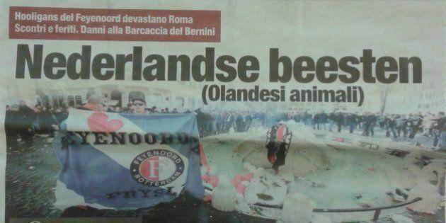 Roma-Feyenoord, il quotidiano Il Tempo titola in olandese: