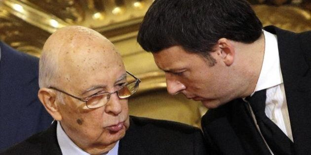 Incontro Matteo Renzi e Giorgio Napolitano, per il Quirinale
