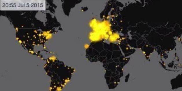 Grecia referendum, questa mappa mostra come i social network europei