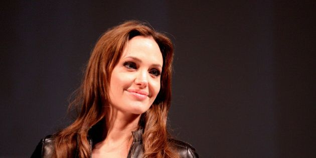 Actress Angelina Jolie on the Salt panel at the 2010 San Diego Comic Con in San Diego, California.Please...