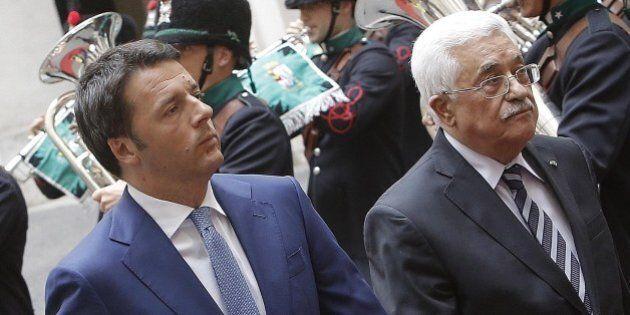 Abu Mazen da Matteo Renzi, ma non scatta la scintilla. L'Italia non segue il Vaticano sul riconoscimento...