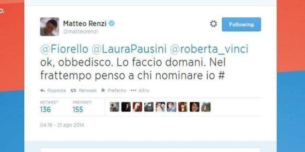 Doccia gelata per la Sla, Matteo Renzi: