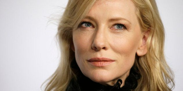 Actress Cate Blanchett attends a press conference for the film Carol, at the 68th international film...
