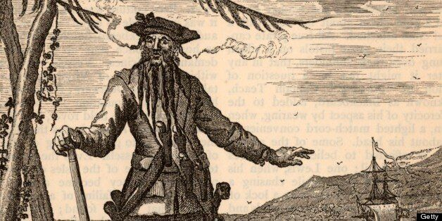 UNSPECIFIED - CIRCA 1754: Blackbeard, the popular name of Edward Teach (or Thatch or Drummond - 1680-1718) notorious English