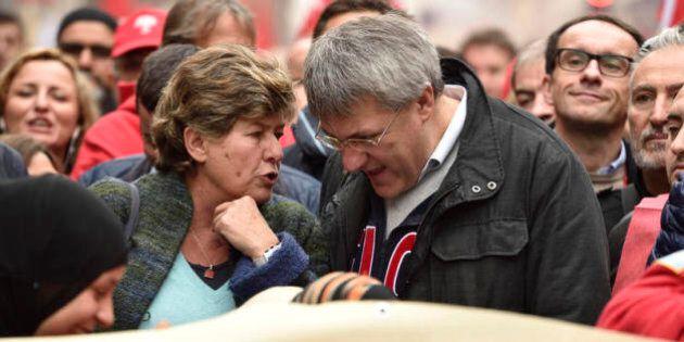 Maurizio Landini e Susanna Camusso tornano distanti. Sul leader Fiom il gelo della minoranza