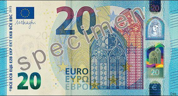 Bce, Mario Draghi presenta la nuova banconota da 20 euro, in circolazione dal 25 novembre.
