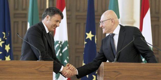 Matteo Renzi in Libano pungola l'Ue: