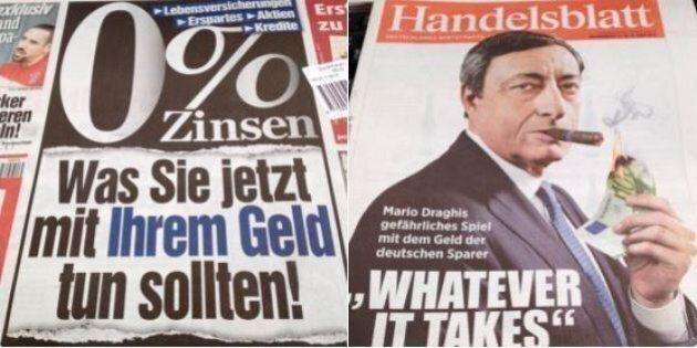 I giornali tedeschi contro Mario Draghi: